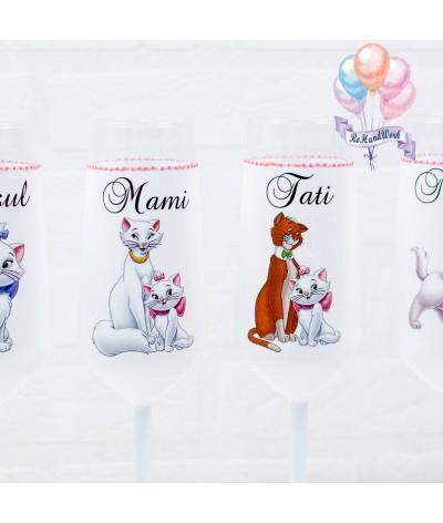 Set pahare botez Pisica Marie - 2