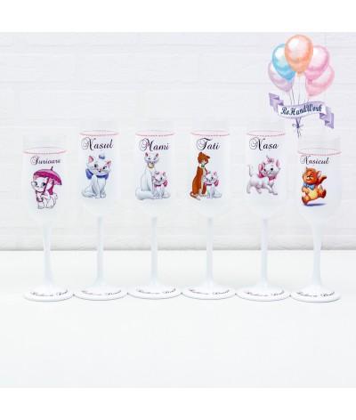 Set pahare botez Pisica Marie - 1
