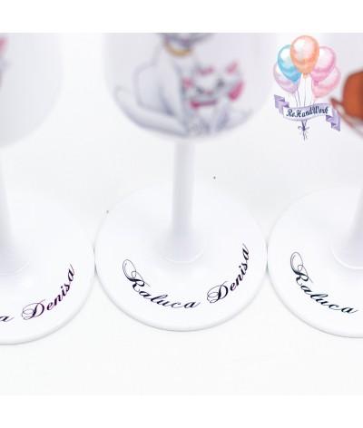 Set pahare botez Pisica Marie - 3