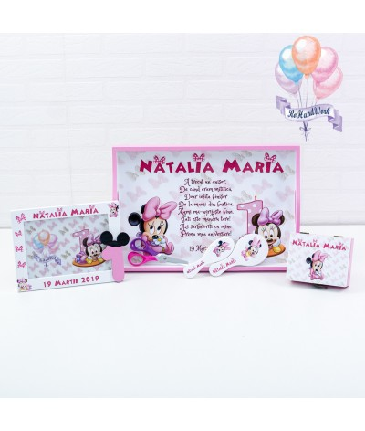 Set de turta Baby Minnie mouse - 1