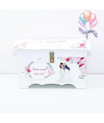 Cufar nunta cu trandafiri roz  (150-200 plicuri) - 7