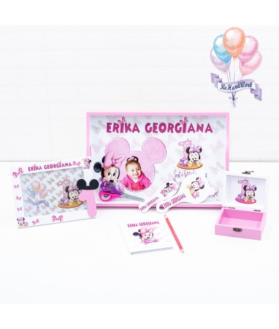 Tavita de mot Baby Minnie mouse roz - 3