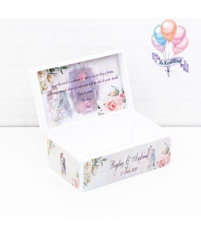 Cutie Amintiri nunta cu trandafiri somon - 2