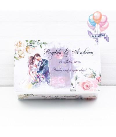 Cutie Amintiri nunta cu trandafiri somon - 1