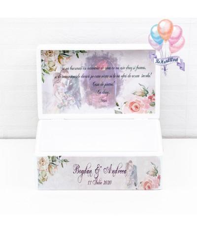 Cutie Amintiri nunta cu trandafiri somon - 3