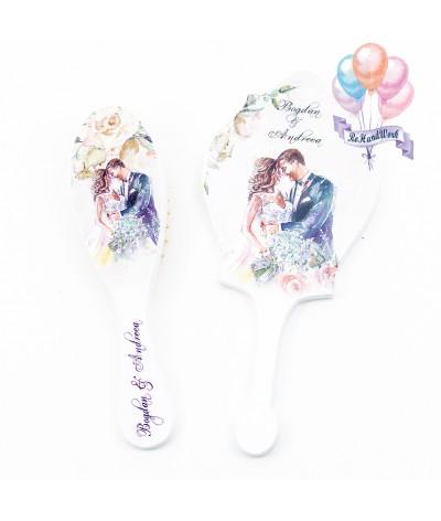 Perie si oglinda Personalizata trandafiri - 1