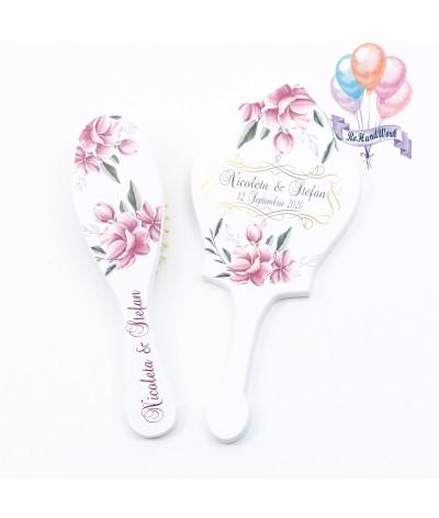 Perie si oglinda Magnolii roz - 1