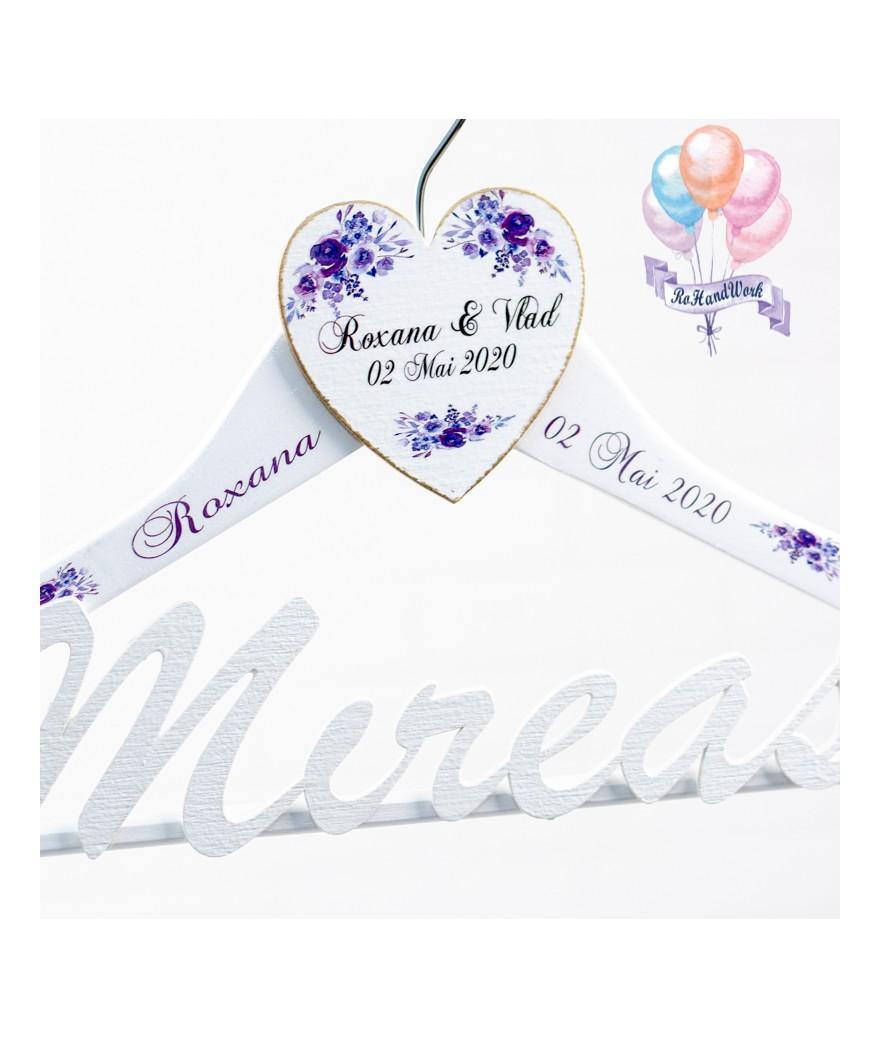 Set umerase nunta cu trandafir mov - 1