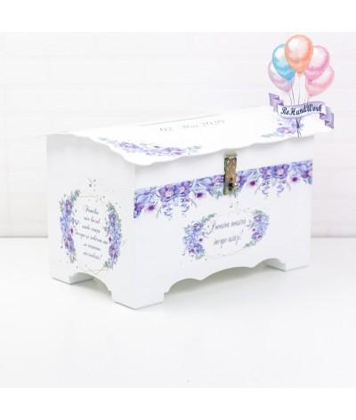 Cufar pentru nunta cu flori delicate mov (150-200 plicuri) - 2