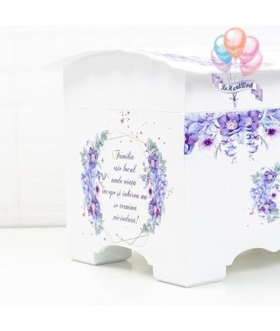 Cufar pentru nunta cu flori delicate mov (150-200 plicuri) - 7