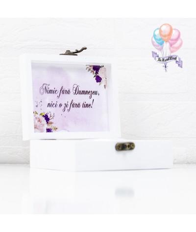 Cutie pentru verighete elegance cu trandafiri - 2