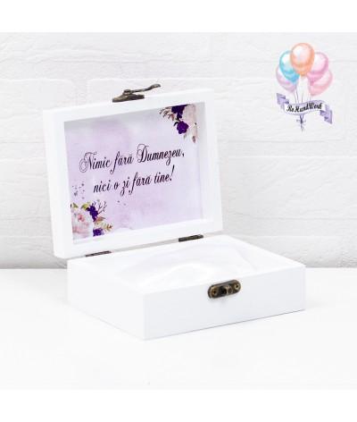 Cutie pentru verighete elegance cu trandafiri - 3