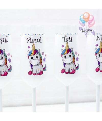 Set pahare botez Unicorn - 2