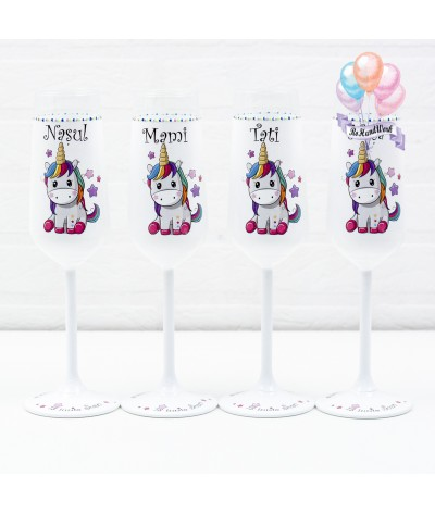 Set pahare botez Unicorn - 1