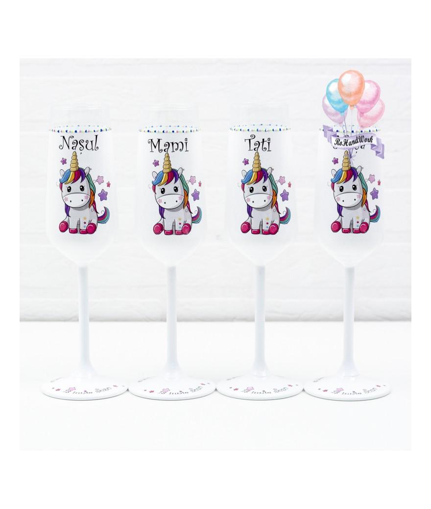 Set pahare botez Unicorn - 1