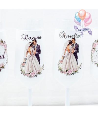 Set pahare Miri love trandafiri 1 nunta - 2