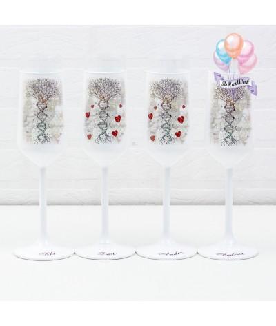 Cutie amintiri personalizata cu pahare si sticla de sampanie - 3