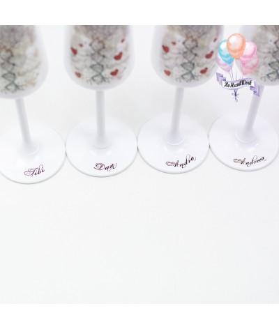 Cutie amintiri personalizata cu pahare si sticla de sampanie - 7