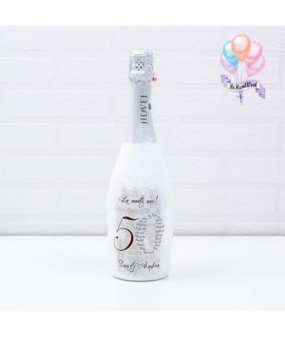 Cutie amintiri personalizata cu pahare si sticla de sampanie - 8