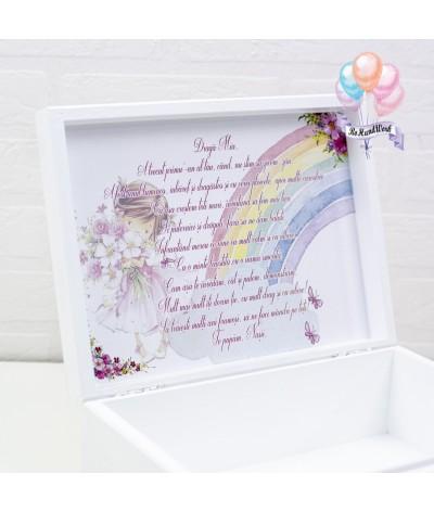 Cutie medie amintiri, perie, oglinda si cutie mot Fetita roz - 3