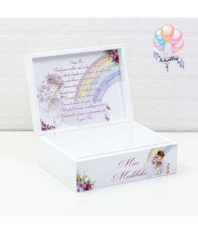 Cutie medie amintiri, perie, oglinda si cutie mot Fetita roz - 5