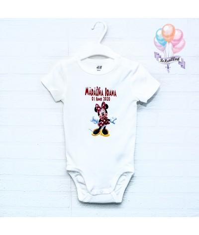 Body personalizat cu Minnie Mouse rosu - 1