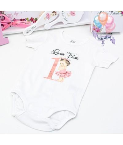 Body personalizat cu Bebe roz - 1
