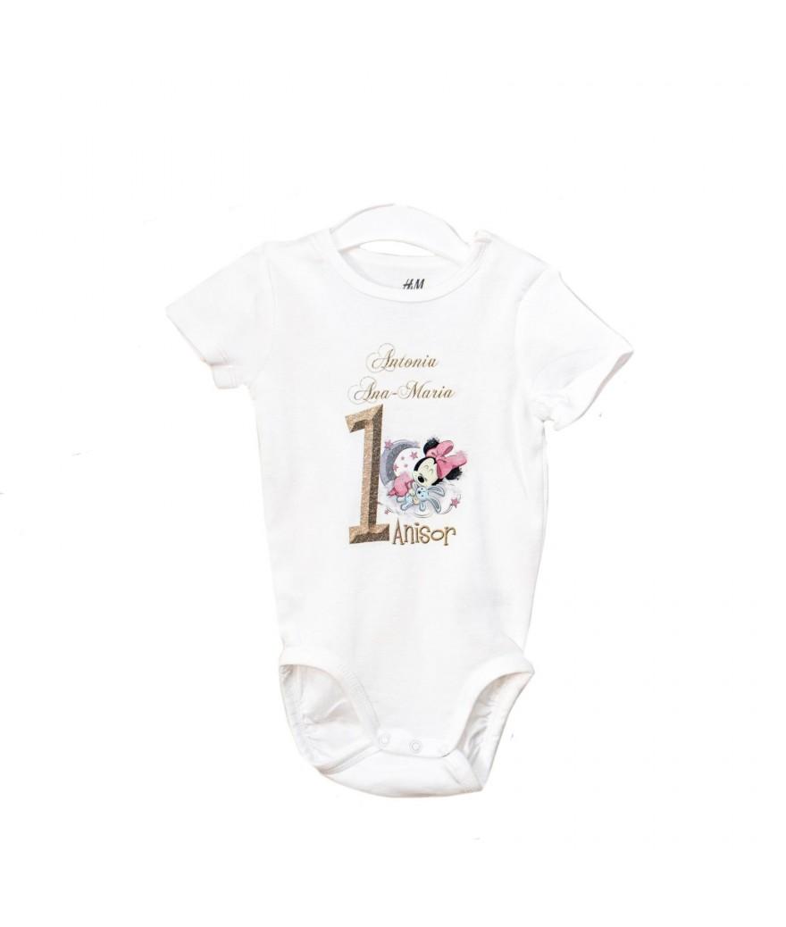 Body personalizat cu baby Minnie mouse roz - 1