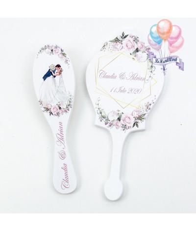 Set miresa personalizat cu flori albe - 03