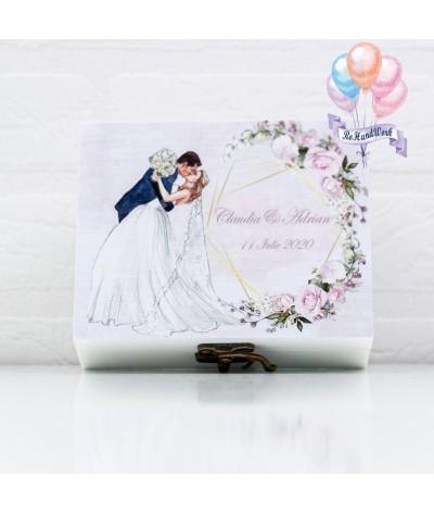 Set miresa personalizat cu flori albe -  06