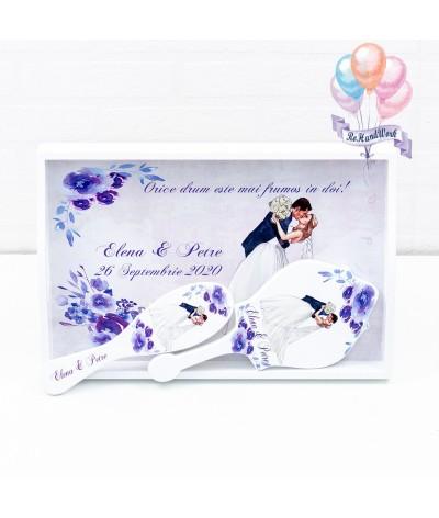 Set mireasa cu flori albastre rohandwork - 02