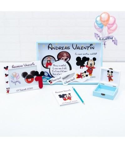 Set mot baby Mickey mouse cifra 1 alb - 3