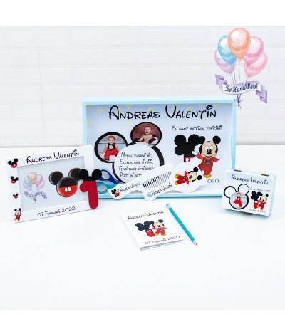 Set mot baby Mickey mouse cifra 1 alb - 1