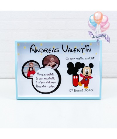 Set mot baby Mickey mouse cifra 1 alb - 2