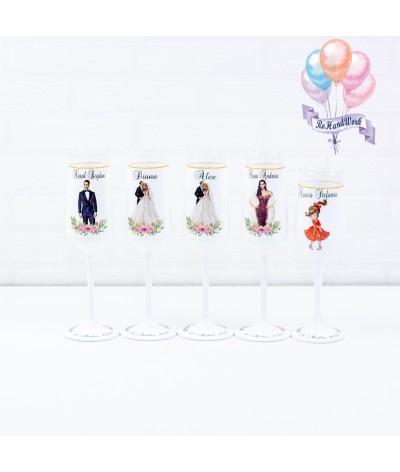 Set pahare siluete 2 nunta - 1