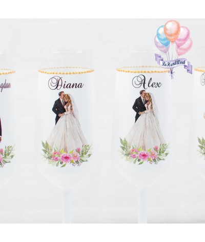 Set pahare siluete 2 nunta - 2