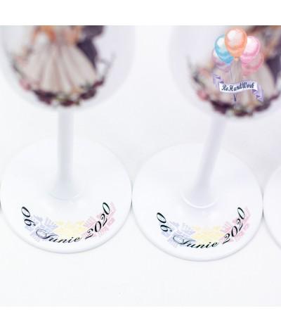 Set pahare traditional si biberon nunta - 2
