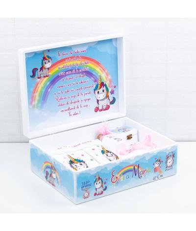 Trusou botez Unicorn Colorat cu poza - 3