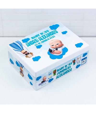 Set trusou botez Baby Boss turcoaz - 3