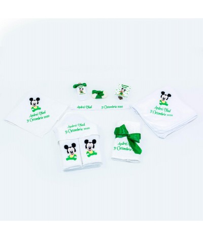 Set trusou Baby Mickey Mouse verde - 1