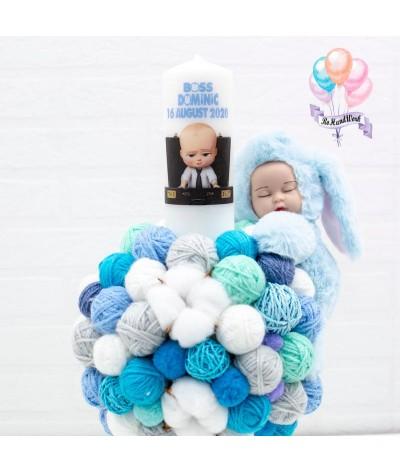 Lumanare cu gheme si mascota Baby Boss - 2