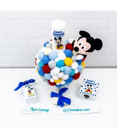 Lumanare cu gheme si mascota Mickey Mouse - 1