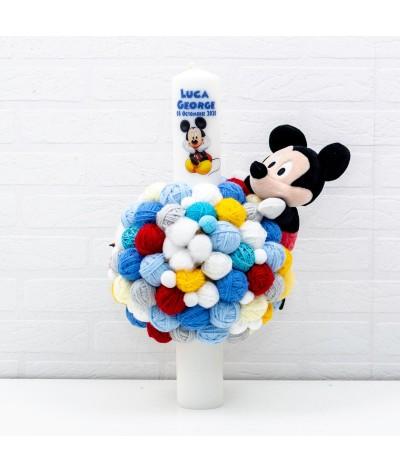 Lumanare cu gheme si mascota Mickey Mouse - 2