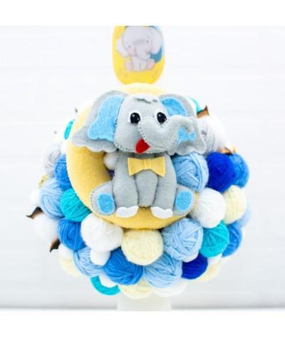 Lumanare cu gheme si mascota Elefantel pe luna - 2