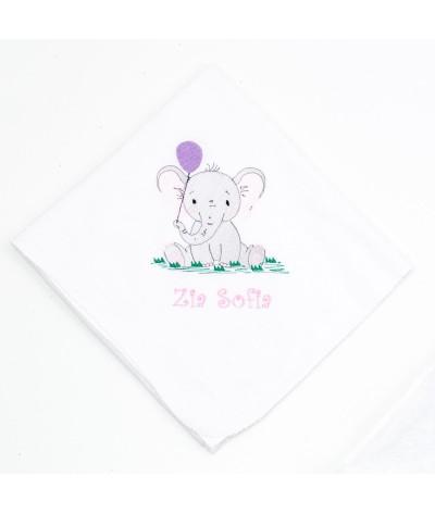 Set trusou botez Elefantel cu balon fetita - 4