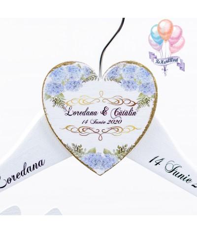 Set 2 umerase nunta cu hortensi bleo - 4
