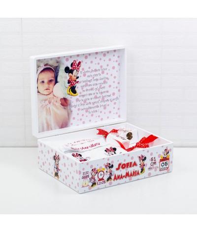 Set trusou botez Minnie Mouse rosu - 1