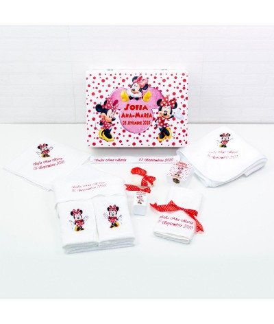 Set trusou botez Minnie Mouse rosu - 2