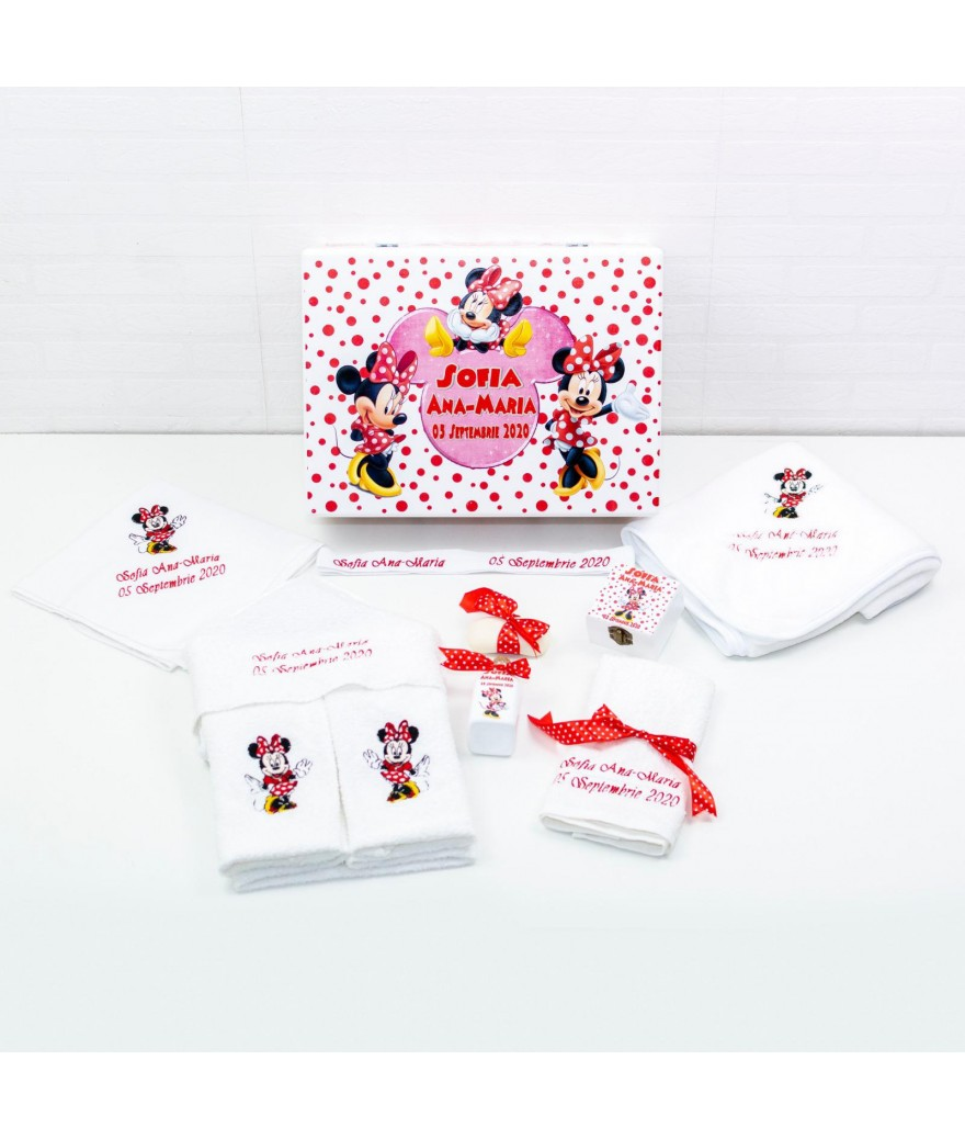 Set trusou botez Minnie Mouse rosu - 2