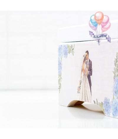Cutie Amintiri Nunta cu hortenii bleo - 7